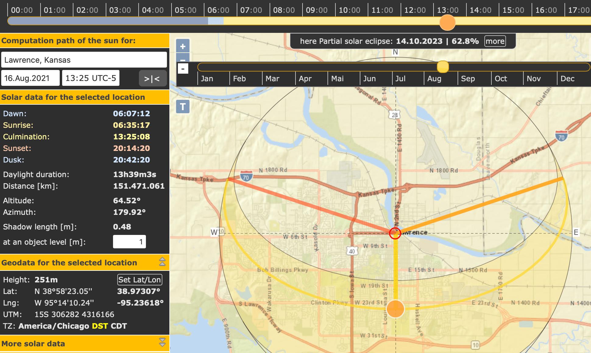 suncalc.org screenshot